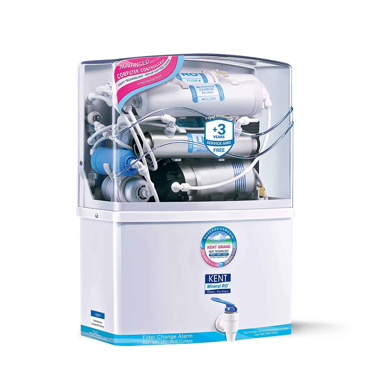 Kent Grand 8-Litre Mineral RO and UV:UF Water Purifier