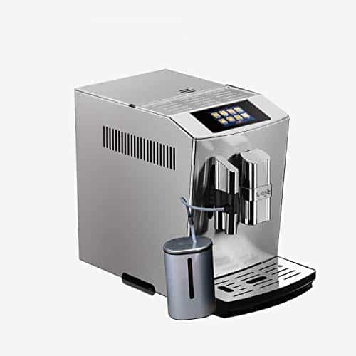 LEGIT Fully Automatic Coffee Machine with an Adjustable Coffee Grinder& Milk Frother, Double Boiler, Milk for brewing Espresso, Cappuccino, Latte - Bean