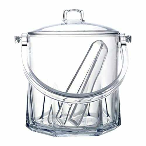 Regalo Transperent Unbreakable Foodgrade Plastic Ice Bucket Capacity-- 1500 ml Free Tong Bar Ware Restaurant Home Gift Purpose-min