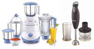 Prestige Iris(750 Watt) Mixer Grinder + Prestige PHB 6.0 200 Watt 2 Speed Hand Blender with Blending Jar, Chopping, Whisking Attachment