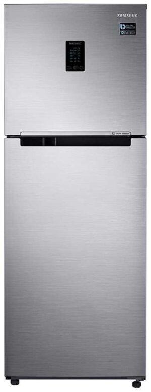 Samsung 324L 3 Star Inverter Frost Free Double Door Refrigerator (RT34T4513S8:HL, Elegant Inox, Convertible)